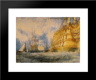 A First Rate Taking In Stores:  Modern Black Framed Art Print by William Turner