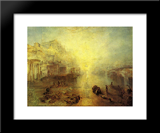Ancient Italy. Ovid Banished From Rome:  Modern Black Framed Art Print by William Turner