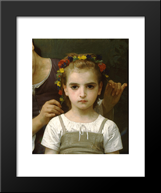 Adornment Fields: Custom Black Wood Framed Art Print by William Adolphe Bouguereau
