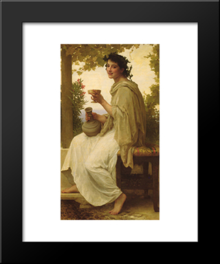 Bacchante:  Modern Black Framed Art Print by William Adolphe Bouguereau