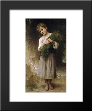Back Fields:  Modern Black Framed Art Print by William Adolphe Bouguereau