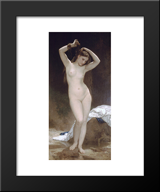 Baigneuse:  Modern Black Framed Art Print by William Adolphe Bouguereau