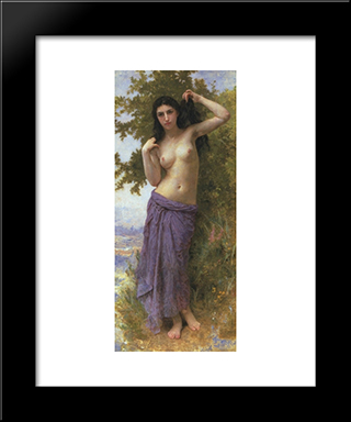 Beaut Romane:  Modern Black Framed Art Print by William Adolphe Bouguereau