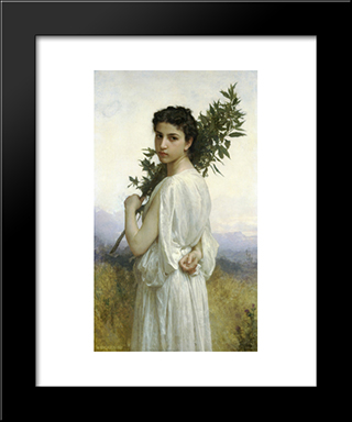 Branche De Laurier:  Modern Black Framed Art Print by William Adolphe Bouguereau
