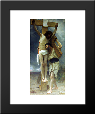 Compassion:  Modern Black Framed Art Print by William Adolphe Bouguereau