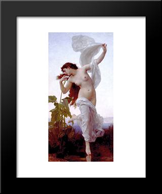 Dawn:  Modern Black Framed Art Print by William Adolphe Bouguereau