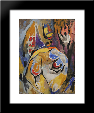 Beatrice Perdue:  Modern Black Framed Art Print by Wolfgang Paalen