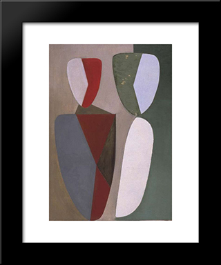La Femme Blonde:  Modern Black Framed Art Print by Wolfgang Paalen
