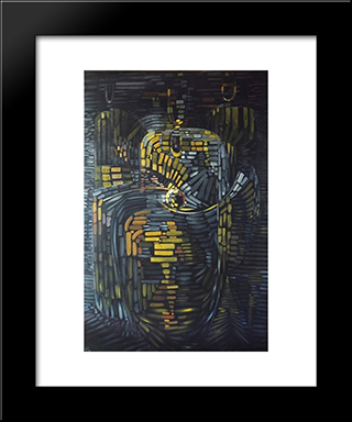 Selam Trilogy:  Modern Black Framed Art Print by Wolfgang Paalen