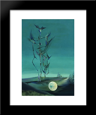 Study For Totem Landscape Of My Childhood:  Modern Black Framed Art Print by Wolfgang Paalen