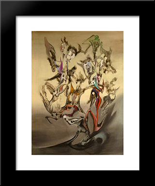 Taches Solaires:  Modern Black Framed Art Print by Wolfgang Paalen