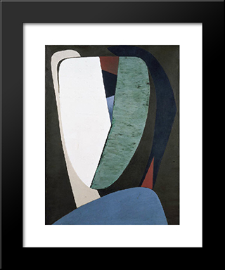 Tete:  Modern Black Framed Art Print by Wolfgang Paalen