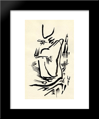 Untitled (Automatic Drawing):  Modern Black Framed Art Print by Wolfgang Paalen