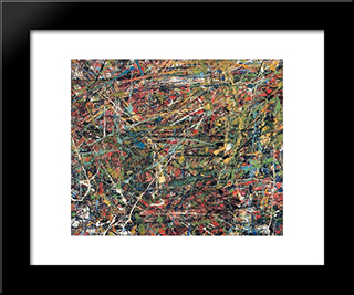 Untitled (Composition):  Modern Black Framed Art Print by Wolfgang Paalen
