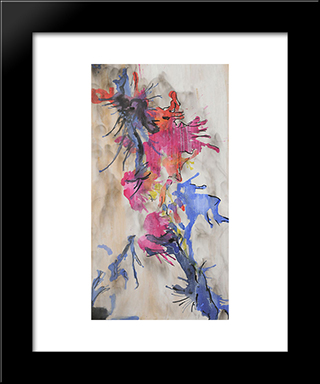 Untitled (Fumage - Encrage):  Modern Black Framed Art Print by Wolfgang Paalen