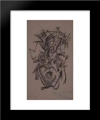 Untitled 1:  Modern Black Framed Art Print by Wolfgang Paalen