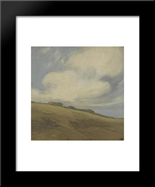 Clouds Over A California Hillside:  Modern Black Framed Art Print by Xavier Martinez