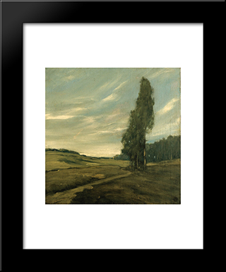 Contra Costa Landscape:  Modern Black Framed Art Print by Xavier Martinez
