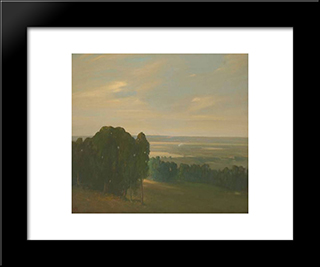 Eucalyptus Grove In A Vast Landscape:  Modern Black Framed Art Print by Xavier Martinez
