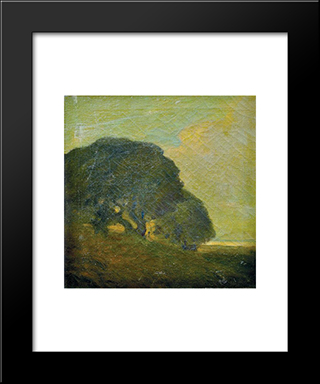 Landscape:  Modern Black Framed Art Print by Xavier Martinez