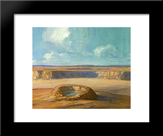 The Waterhole:  Modern Black Framed Art Print by Xavier Martinez