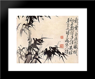 Bamboos:  Modern Black Framed Art Print by Xu Wei