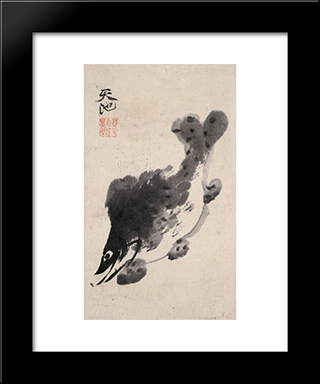 Fish:  Modern Black Framed Art Print by Xu Wei
