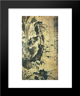 Unknown Title:  Modern Black Framed Art Print by Xu Wei