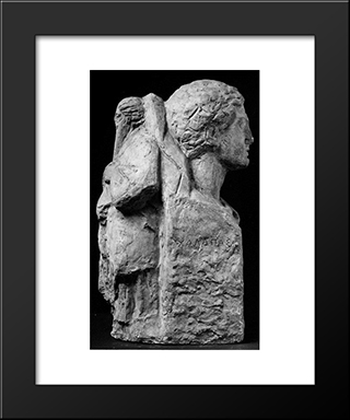 St. Haralambos And Mercury:  Modern Black Framed Art Print by Yannoulis Chalepas