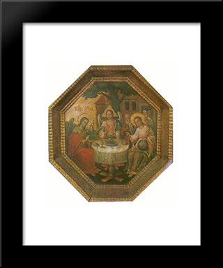 Old Testament Trinity:  Modern Black Framed Art Print by Yov Kondzelevych
