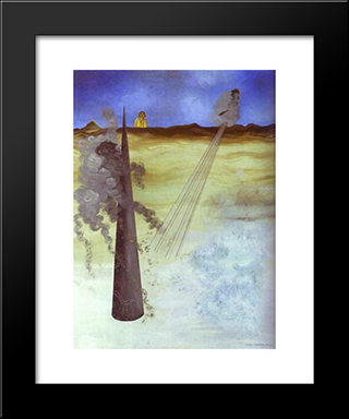 I Came Like I Promised:  Modern Black Framed Art Print by Yves Tanguy
