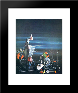 Slowly Toward The North:  Modern Black Framed Art Print by Yves Tanguy