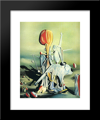 Through Birds Through Fire But Not Through Glass:  Modern Black Framed Art Print by Yves Tanguy