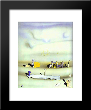 Tomorrow:  Modern Black Framed Art Print by Yves Tanguy