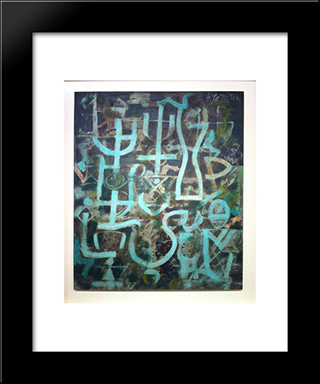 All Souls' Night:  Modern Black Framed Art Print by Bradley Walker Tomlin