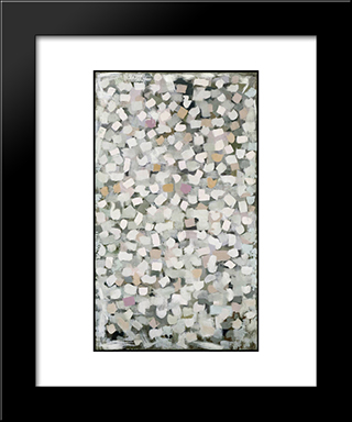 Number 1:  Modern Black Framed Art Print by Bradley Walker Tomlin