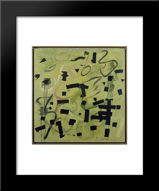 Number 12:  Modern Black Framed Art Print by Bradley Walker Tomlin