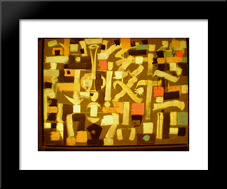 Number 13:  Modern Black Framed Art Print by Bradley Walker Tomlin