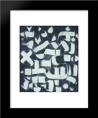 Number 14:  Modern Black Framed Art Print by Bradley Walker Tomlin