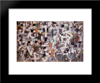 Number 15:  Modern Black Framed Art Print by Bradley Walker Tomlin