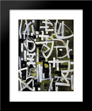 Number 2:  Modern Black Framed Art Print by Bradley Walker Tomlin