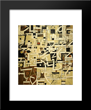 Number 20:  Modern Black Framed Art Print by Bradley Walker Tomlin