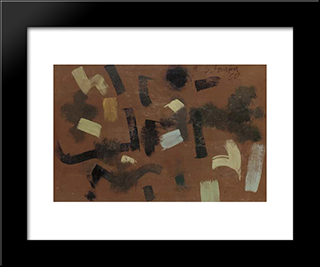 Number 3:  Modern Black Framed Art Print by Bradley Walker Tomlin