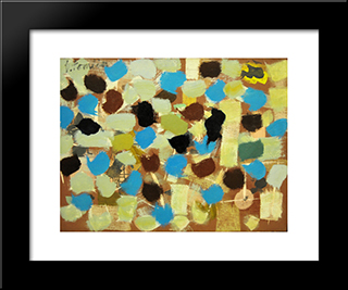 Number 7:  Modern Black Framed Art Print by Bradley Walker Tomlin
