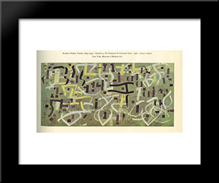 Number 9. In Praise Of Gertrude Stein:  Modern Black Framed Art Print by Bradley Walker Tomlin