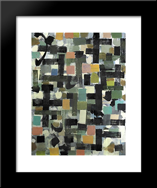 Shapes:  Modern Black Framed Art Print by Bradley Walker Tomlin