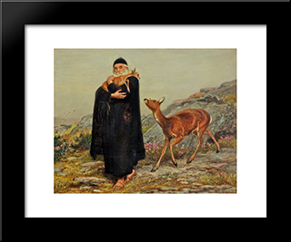 A Legend Of Saint Patrick:  Modern Black Framed Art Print by Briton Riviere