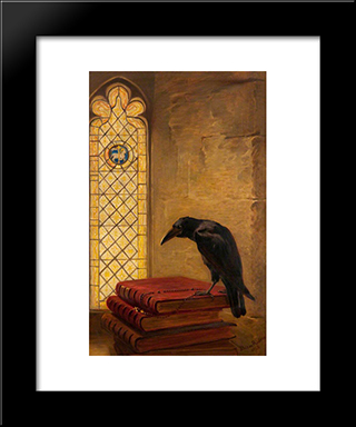 A Saint, From The 'Jackdaw Of Rheims':  Modern Black Framed Art Print by Briton Riviere