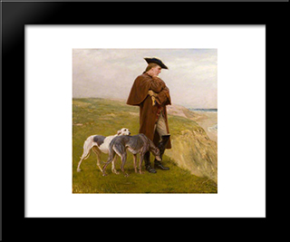 An Exile Of The '45:  Modern Black Framed Art Print by Briton Riviere