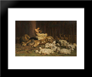 Apollo:  Modern Black Framed Art Print by Briton Riviere